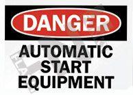 Automatic start equipment Sign 1