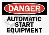 Automatic start equipment Sign 1