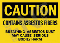 Caution - Contains asbestos fibers - Breathing asbestos dust may cause serious bodily harm 1