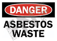 ASBESTOS CONSTRUCTION SAFETY SIGNS