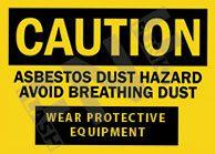 Asbestos dust hazard Sign 1