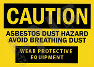 Asbestos dust hazard Sign 1