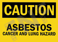 Cancer and lung hazard Sign 1