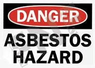 Asbestos hazard Sign 1
