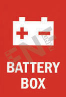 Battery box Sign 1