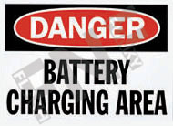 Battery charging area Sign 1