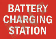 Battery charging station Sign 1