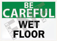 Wet floor Sign 1