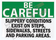 Slippery conditions Sign 1
