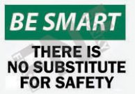 There is no substitute for safety Sign 1