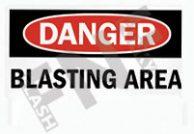 Blasting area Sign 1