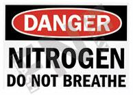 Nitrogen Do not breathe Sign 1