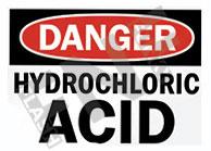 Hydrochloric acid Sign 1