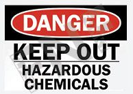 Hazardous chemicals Sign 1