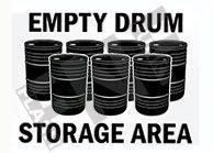 Empty drum storage area