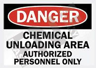 Chemical unloading area Sign 1