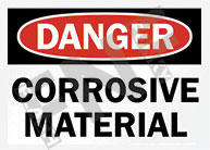 Danger – Corrosive material