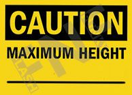 Maximum height Sign 1