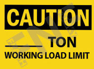 Ton working load limit Sign 1