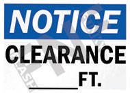 Notice – Clearance - __ ft.