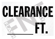 Clearance - __ ft.