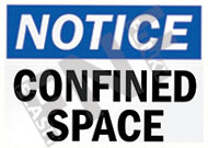 Notice – Confined space