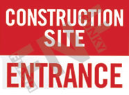 Construction site – Entrance