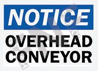 Notice – Overhead conveyor