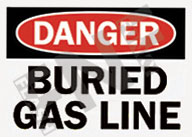 Danger – Buried gas line