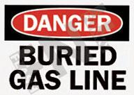Danger – Buried gas line