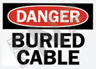 Danger – Buried cable