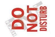 Do not disturb Sign 1
