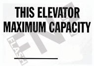 This elevator maximum capacity __
