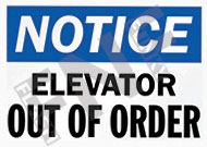 Notice – Elevator out of order