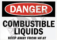 Danger – Combustible liquids – Keep away from heat