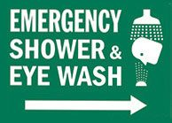 Emergency shower and eye wash Sign 1