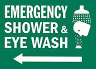 Emergency eye wash Sign 1