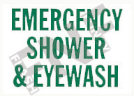 Emergency shower and eye wash