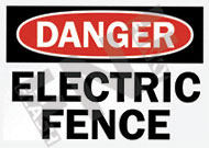 Danger – Electrical fence