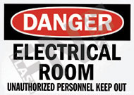 Danger – Electrical room – Unauthorized personnel keep out