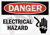 Danger – Electrical hazard