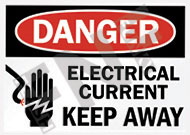 Danger – Electrical current – Keep away