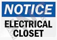 Notice – Electrical closet – Do not enter