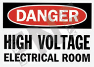 Danger – High voltage electrical room