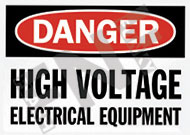 Danger – High voltage electrical equipment