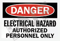 Danger – Electrical hazard – Authorized personnel only