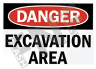 Danger – Excavation area