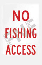 No fishing access