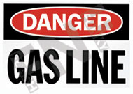 Danger – Gas line