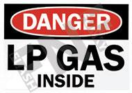 Danger – LP gas inside